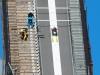 Skispringer beim Sommertraining