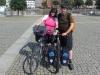 Ich und Beatrice am Etappenziel in Lübeck