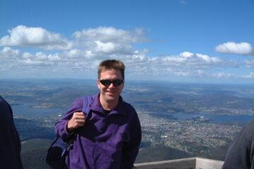 Ich auf Mt Wellington
