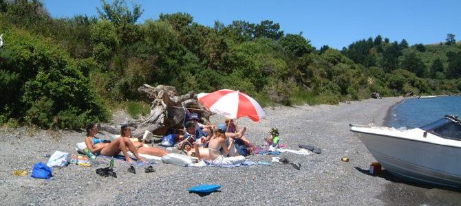 Badetag am Lake Taupo
